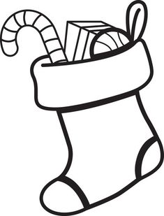 Christmas Stocking Coloring Page 1