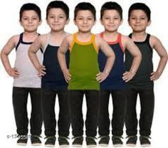 Innerwear Kid's Boy's Cotton Vest(Pack Of 5) Fabric:Cotton Sleeves: Sleeves Are Not Included Size: Age Group (0 Months - 3 Months) - 10 in Age Group (3 Months - 6 Months) - 12 in Age Group (6 Months - 9 Months) - 12 in Age Group (9 Months - 12 Months) - 14 in Age Group (12 Months - 18 Months) - 16 in Age Group (18 Months - 24 Months) - 18 in Age Group (2 - 3 Years) - 20 in Age Group (3 - 4 Years) - 22 in Age Group (4 - 5 Years) - 23 in Age Group (5 - 6 Years) - 24 in Age Group (6 - 7 Years) - 26 in Age Group (7 - 8 Years) - 27 in Age Group (8 - 9 Years) - 27 in Age Group (9 - 10 Years) - 27 in Age Group (10 - 11 Years) - 27 in Age Group (11 - 12 Years) - 28 in Age Group (12 - 13 Years) - 29 in Age Group (13- 14 Years) - 29 in Age Group (14 - 15 Years) - 29 in Type: Stitched Description: It Has 5 Pieces Of Kid's Boy's Vests Work :Printed Country of Origin: India Sizes Available: 0-3 Months, 0-6 Months, 3-6 Months, 6-9 Months, 6-12 Months, 9-12 Months, 12-18 Months, 18-24 Months, 0-1 Years, 1-2 Years, 2-3 Years, 3-4 Years, 4-5 Years, 5-6 Years, 6-7 Years, 7-8 Years, 8-9 Years, 9-10 Years, 10-11 Years, 11-12 Years, 12-13 Years, 13-14 Years, 14-15 Years   Catalog Rating: ★4.1 (8870)  Catalog Name: Elegant Kid's Boy's Cotton Vests Vol 9 CatalogID_228732 C59-SC1187 Code: 592-1745581-786