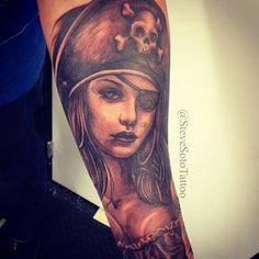 Pirate girl action tattoo - steve soto