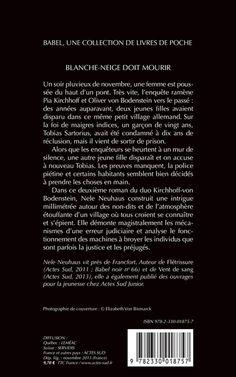 Babel Noir - 2013-11 - Nele Neuhaus - Blanche-Neige Doit Mourir - Verso
