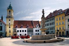 The main #square of #Bratislava, #Slovakia #EuropeTravelwithMIR #slovakiatravel…