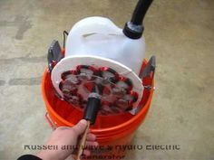small scale Hydroelectric Generator magnets rotate = coil stationary  12 volts ac seen on you tube