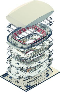 Stadium Architecture, Revit Architecture, Architecture Portfolio, Architecture Details, Architecture Graphics, Autocad, Mechanical Engineering Design, Steel Structure Buildings, Building Information Modeling