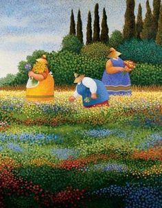 Spring Gathering by Lowell Herrero (b.1921)