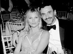 Kate Moss and Riccardo Tisci at the annual amfAR The Foundation for AIDS Research Inspiration Gala in São Paulo  Kevin Tachman / BackstageAT   More images: http://bkstge.at/amfARsp2015