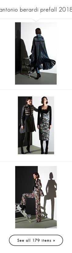"""antonio berardi prefall 2018"" by xandra-black ❤ liked on Polyvore featuring antonio berardi, comic book, outerwear, coats, floral print coats, floral coat, leather-sleeve coats, long coat, long floral coat and long sleeve coat"
