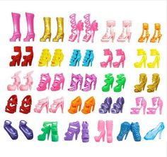 10Pairs Colorful Assorted Heels Sandals Shoes For Barbie Doll With Different Styles Fashion Toy Girls Gift toys for girls #>=#>=#>=#>=#> Click on the pin to check out discount price, color, size, shipping, etc. Save and like it!