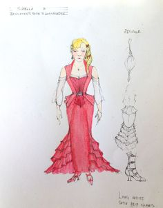 """A costume sketch from """"A Gentleman's Guide to Love & Murder"""" by Tony-nominated designer Linda Cho."""