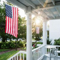 Flag Front Porch - The Best Southern Instagram Photos of 2016 - Southernliving. On Fourth of July and always, we wished you a safe and festive celebration with friends and family.