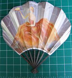 1920's Paper Hand Fan