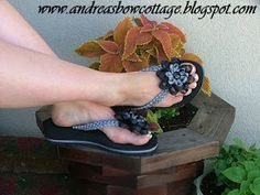 Flip Flops with Flair www.andreasbowcottage.blogspot.com