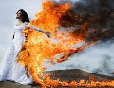 *trash the dress* scary as shizz.. iono about this one but man is that an amazing picture.