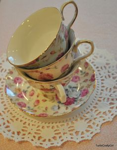 tea cup vintage | ... pretty tea cups i bought few of these vintage styled tea cups online
