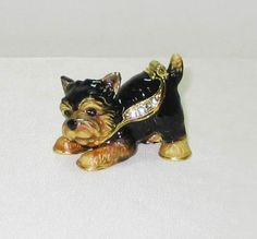 #Engagement.. Put the engagement ring in this so cute  Yorkie Yorkshire Terrier  Jeweled Trinket Box. She will never expect it!  #proposal