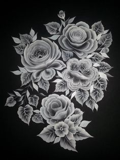 Black and white roses - one stroke painting by amalia copcea paintings one One Stroke Painting, Tole Painting, Fabric Painting, Black And White Roses, Black And White Painting, Donna Dewberry Painting, Brush Embroidery, 3d Cnc, Art Anime