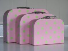 Set of 3 Nesting Mini Suitcases