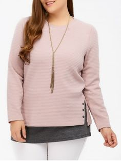 GET $50 NOW | Join RoseGal: Get YOUR $50 NOW!http://www.rosegal.com/plus-size-sweaters-cardigans/side-slit-insert-knitwear-884913.html?seid=7558296rg884913