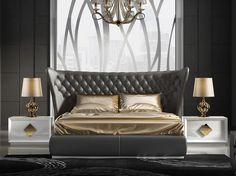 Dormitorio con cabecero tapizado. Mod. KLII-110