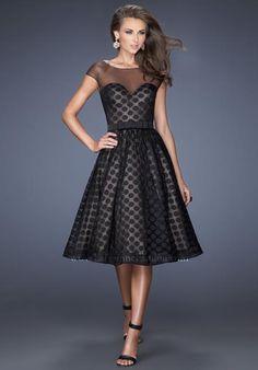 2014 La Femme Sheer Sleeves Homecoming Dress 19915