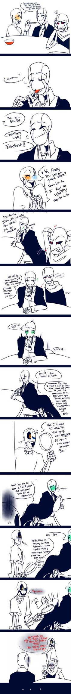 Hmmm. . . Who is B!Gaster? I like the dynamics of all three who are featured here, but I don't completely understand it