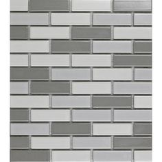 EPOCH Architectural Surfaces Multicolor Brick Mosaic Ceramic Subway Tile Common 11 In X
