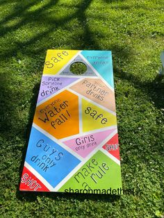 Cornhole Designs, Beer Pong Tables, Corn Hole, Apartment Plans, Cornhole Boards, Drinking Games, Alcohol Recipes, Backyard Games, 4th Of July Party