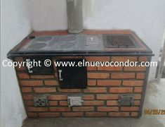 El Condor - Estufas de leña y Carbón - Fundición de Hierro, Bronce y Aluminio Indoor Outdoor Kitchen, Outdoor Cooking, Rustic Kitchen, Firewood, Kitchen Design, Backyard, Interior Design, Stoves, Home Decor
