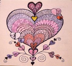 Valentine tangle from Tangle Harmony Journal 2012 by gingerbread_snowflakes, via Flickr