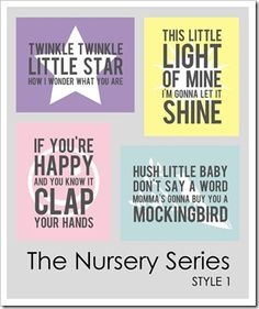 adorable (free) prints for a nursery! (or in our case, a daycare room....)