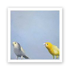 The Unpopularity Of The Drama-Deaf 10 x 10 Art Print - Bird - Finches - Animal - Nature - Gift