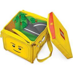 Cutie pentru jucarii 2 in ZipBin Lego Head, Neat-Oh Lego Head, Toy Bins, Lego Blocks, Toddler Furniture, Lego Toys, Lego Storage, Toy Organization, Baby Monitor, Wheelbarrow