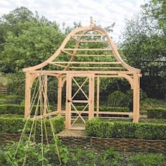 Beautiful seasoned oak fruit cages for potager kitchen garden - Sellick & Saxton Potager Garden, Garden Trellis, Fruit Garden, Edible Garden, Vegetable Garden, Fruit Cage, Victorian Greenhouses, Garden Planter Boxes, Hydrangea Care