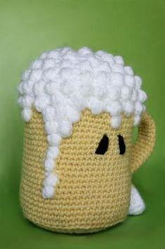 amigurumi pdf pattern (crochet pattern) : oh my beer... amigurumi de chopp de cerveza patrón de amigurumi en pdf lana,vellón siliconado,ganchillo de crochet pdf patrón crochet