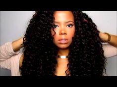 Crochet Braid Nighttime Routine ! (Freetress Deep Twist) - YouTube