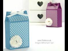 Spotty Triangular Top Box Tutorial using Stampin' Up! Polka Dot Parade Paper