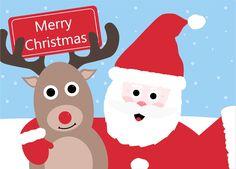 Santa and Rudolph Selfie Card