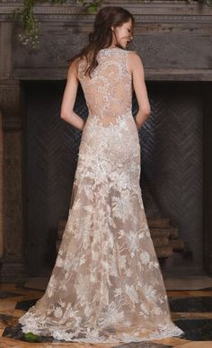 Featured Dress: Claire Pettibone; Wedding dress idea.