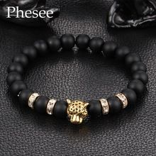 2016 Antique Crystal Gold and Silver Plated Buddha Leopard Head Bracelet Charm Yoga Bracelets For Men Women Pulseras E0432(China (Mainland))