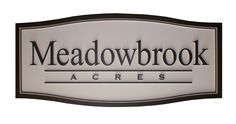 Large signs for subdivisions and cities. Entrance signage for Meadowbrook Acres community. Sign was 8 ft long and routed in high density urethane. Strata Signs www.customoutdoorwoodensigns.com