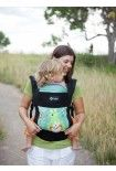 Boba soft structured carrier 7 lbs-45 lbs. newborn/front and back carry and also a way to wear it when it isn't being used (convenient!)