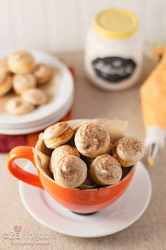 Spiced Latte Meringues with Pumpkin Cream Filling