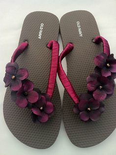 f91bcb8b0 I must try my own DIY version of these beautiful ribbon wrapped floral flip  flops. Maybe use a better quality flip flop with some arch support though.