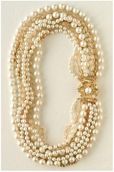 7-Strand Pearl and Bead Necklace