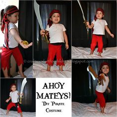 25 DIY Halloween Costumes for Kids You Can Actually Make  sc 1 st  Pinterest & Girl pirate costume Pirate Princess Tutu - cruise clothes pirate ...