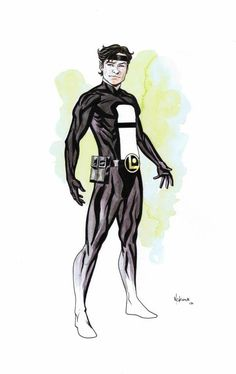 Invisible Kid, Legion of Super-Heroes (SOLD), in ArtShotton's Legion of Super-Heroes - Watercolour Commissions by Mike Mckone Comic Art Gallery Room - 878221