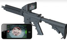 The sharp-shooter app: Attachment for rifles replaces scope with an iPhone showing detailed zoom and weather conditions. The Inteliscope rifle attachment comes with filters, including a night vision scope. This filter can be enabled through the app and uses the iPhone or iPod Touch's camera to take images in low-light conditions. To know more: http://inteliscopes.com