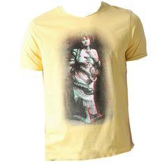 T-Shirt mit Print ab 7,00 € Hier kaufen: http://www.stylefru.it/s582851 #gelb #druck #bild