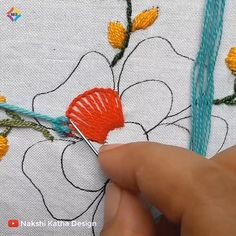 Hand Embroidery Flower Designs, Hand Embroidery Patterns Flowers, Basic Embroidery Stitches, Hand Embroidery Videos, Embroidery Stitches Tutorial, Embroidery Flowers Pattern, Creative Embroidery, Simple Embroidery, Embroidery Kits
