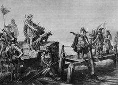 Caesar and the Helvetii leader Divico parley after the battle at the Saône. Historic painting of the 19th century by Karl Jauslin. Divico was the leader of the Helvetian tribe of the Tigurini. During the Cimbrian War, in which the Cimbri and Teutons invaded the Roman Republic, he led the Tigurini across the Rhine to invade Gaul in 109 BCE. He defeated a Roman army at the Battle of Burdigala in 107 BCE and led the Helvetii against Julius Caesar at the Battle of Bibracte in 58 BCE.