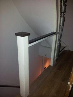 Traphek (spijlen) maken, overgang trap-houten vloer afwerken